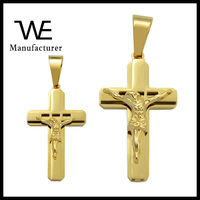 Shiny 24K Yellow Gold Plated Religion Jesus Christ Crucifix Pendant