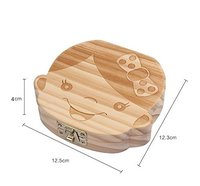 Milk teeth Wood storage box for kids Tooth Box organizer for baby Save