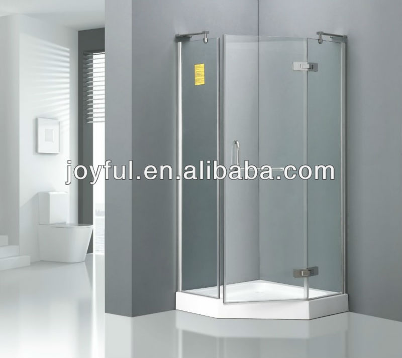 High quality tempered glass hinged shower stall A1017