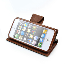 for iPhone 8 X leather color mix pu phone case with card slot