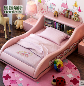 Fashion customized child furniture colorful bed  with price for two children