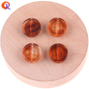 Wholesale 22MM Flat Round Shape Acrylic Beads Jewelry Necklace Beads For DIY Handmade Earrings Accessories Design