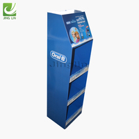 Custom made Rigid Cardboard Type Display Rack Cosmetic Display Rack for Supermarket Display /Promotion
