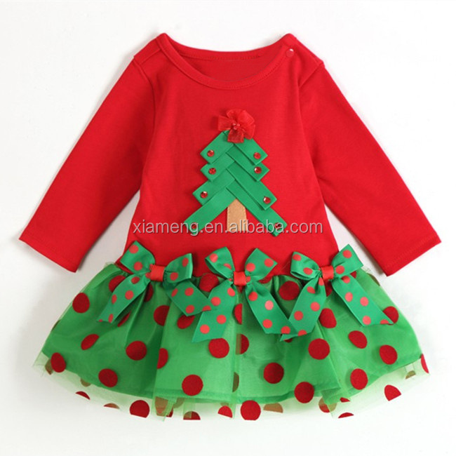 Latest Design Baby Frock Christmas Baby Clothing Long Sleeve Girls ...