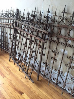 Victorian Style Antique Wrought Iron Fence Metal Ornaments
