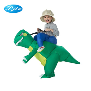 Wholesale factory direct sell funny mascot kids size inflatable dinosaur costume