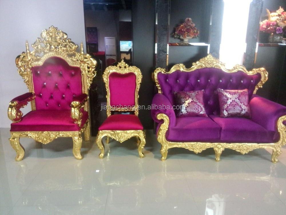 Luxury Wedding Event Wooden Sofa Chair King Throne Jc K150 Buy Wooden Sofa