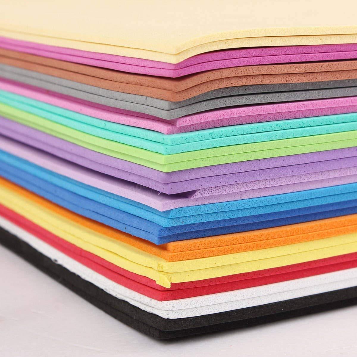 32PCS A4 2mm Foam Sheets Sponge Paper Foam Flower Craft Material Jewelry 16 Color - Tools, Industrial & Scientific Raw Materials - 32PCS\/lot Sponge Foam Paper