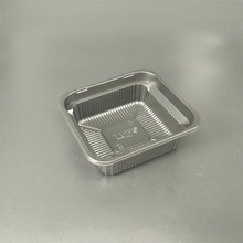 2018 Customized black plastic food tray disposable food container
