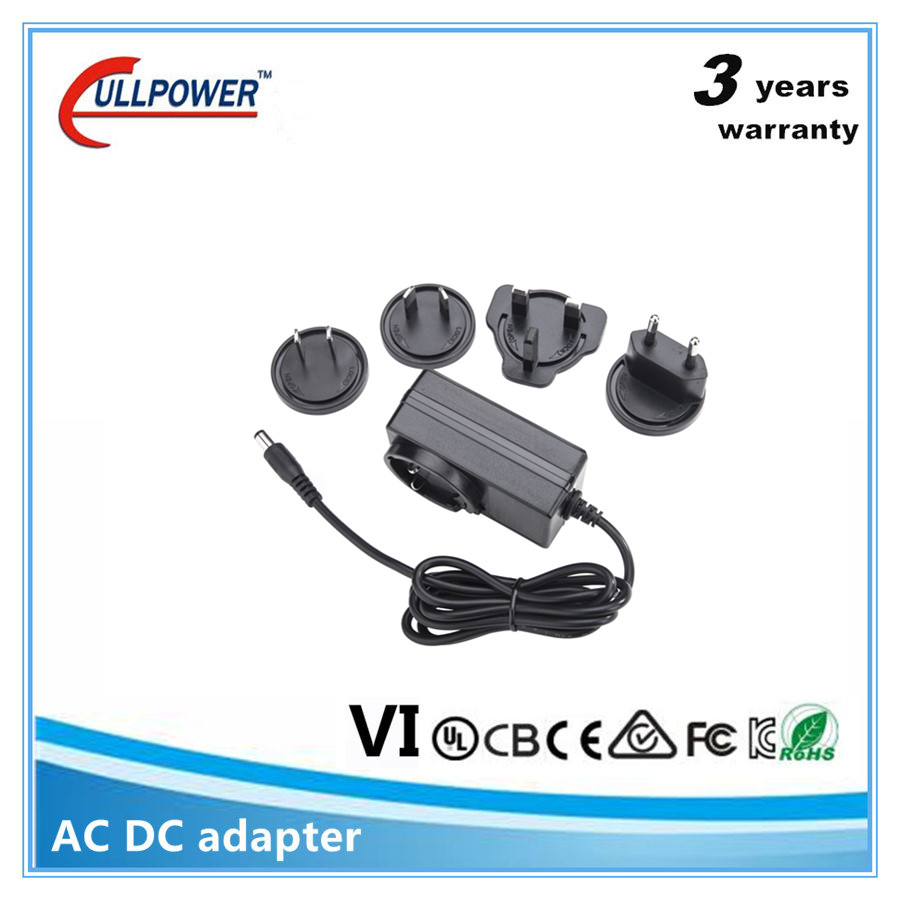 Factory price interchangeable 10v 10 volt 800ma 1a 1.5a 2a ac/dc adapter 110v to 220v adapter