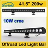 rigid single row 10w cree led off road light bar 41.5 inch 200w for ATV, SUV