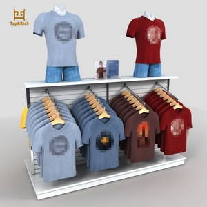 China Manufacturer Custom Acrylic T Shirt Display 4 Way Clothing Display Rack