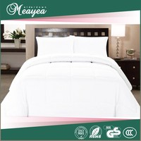 cotton quilted bed covers, white duck down quilt, 600fp 80% goose down quilt