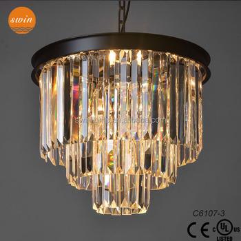 1920s Odeon Clear Glass Fringe 3-tier Chandelier Light Fixtures In ...