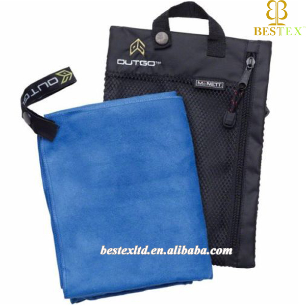 2017 Promotional cheap compact suede travel micro fiber sport towel