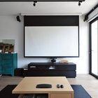 Electric projector screen with remote control /wall mount motorized screen/Eyelet rear projection screen