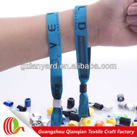2016 new customized music festival charm fabric plastic snap bracelets