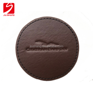 2018 wholesale promotion high quality business Hot Pu coaster set Pu leather cup mat for hotel tea coffee drink coaster