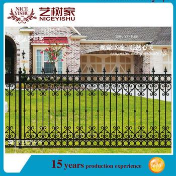 Yishujia Factory Decorative Iron Fence Designgrill Design For