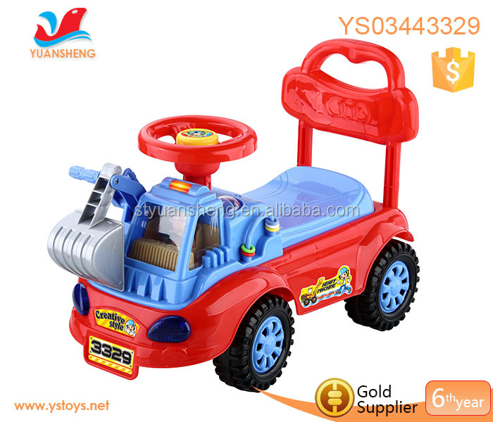 Battery baby toy car children learning walker with music newst plastic steering whell ride on car