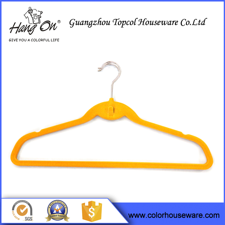 Multi-functional Customized Hanger,Space Saving Flocked Velvet Hanger,Closet Hanger for Suit