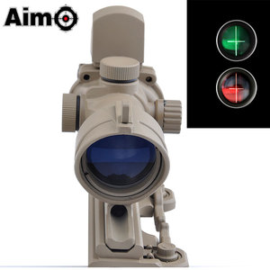 ACOG 4X 32 Crosshair & Red and Green Dot Holographic Sight Scope For Airsoft Hunting