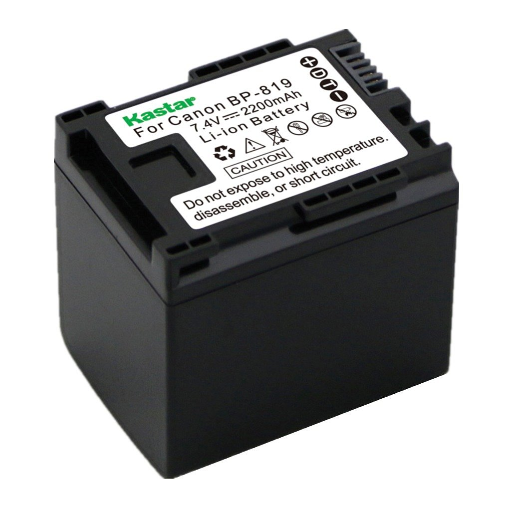 Decoded 3400mAh 7.4V Lithium-Ion Replacement for Canon VIXIA HF10 Battery and Charger Compatible with Canon BP-827 Digital Camcorder Batteries and Chargers