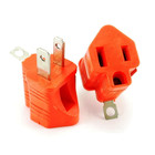 3 Prong to 2 Prong Polarized Grounding AC Power Plug Adapter
