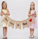 Here Comes the Bride Sign Burlap Linen Wedding Bunting Banner Novelties From China