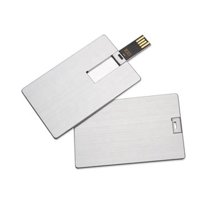 Credit card types usb pendrive metal 64mb-128gb custom your logo