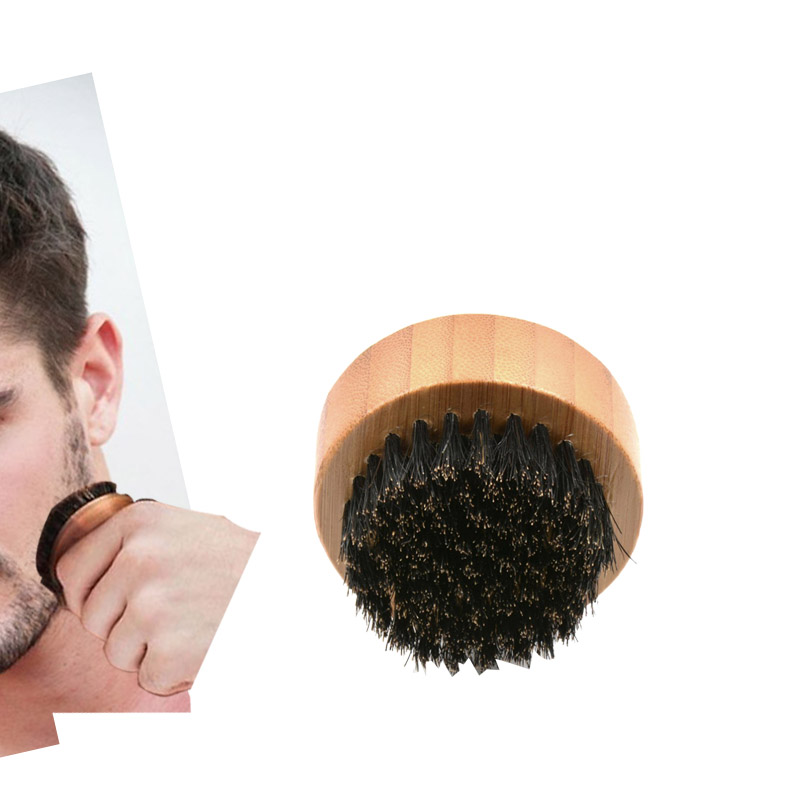 2018 wholesale New mens round beard brush