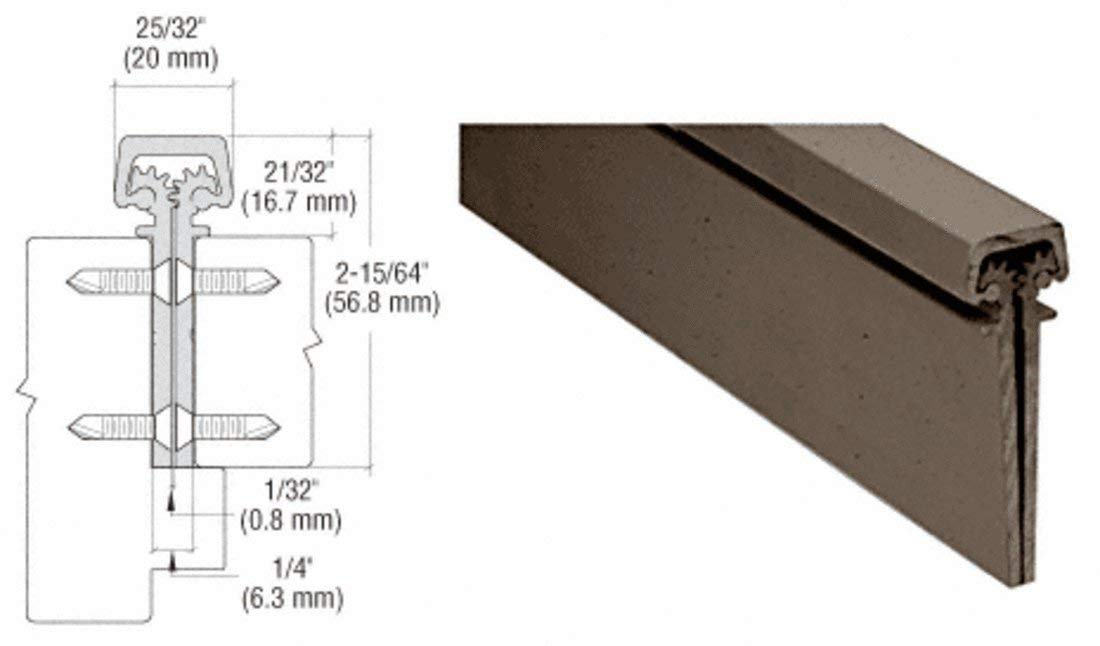 """CRL Dark Bronze Anodized 300 Series Standard Duty Concealed Continuous Hinge - 83"""""""