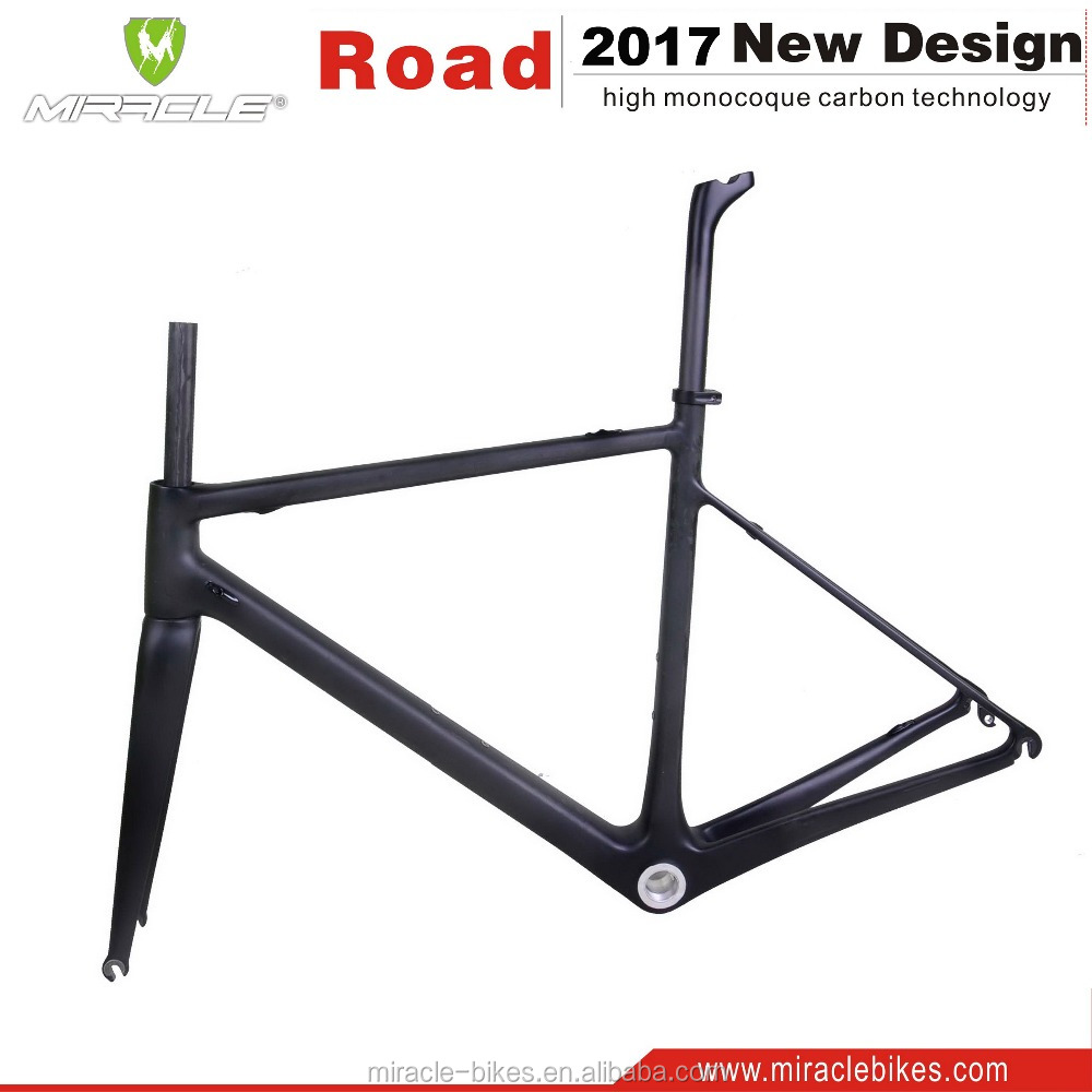 Hotest T700 full carbon racefiets frame China fabriek fabricage fiets frames BSA/BB30 alle interne kabel carbon frame road