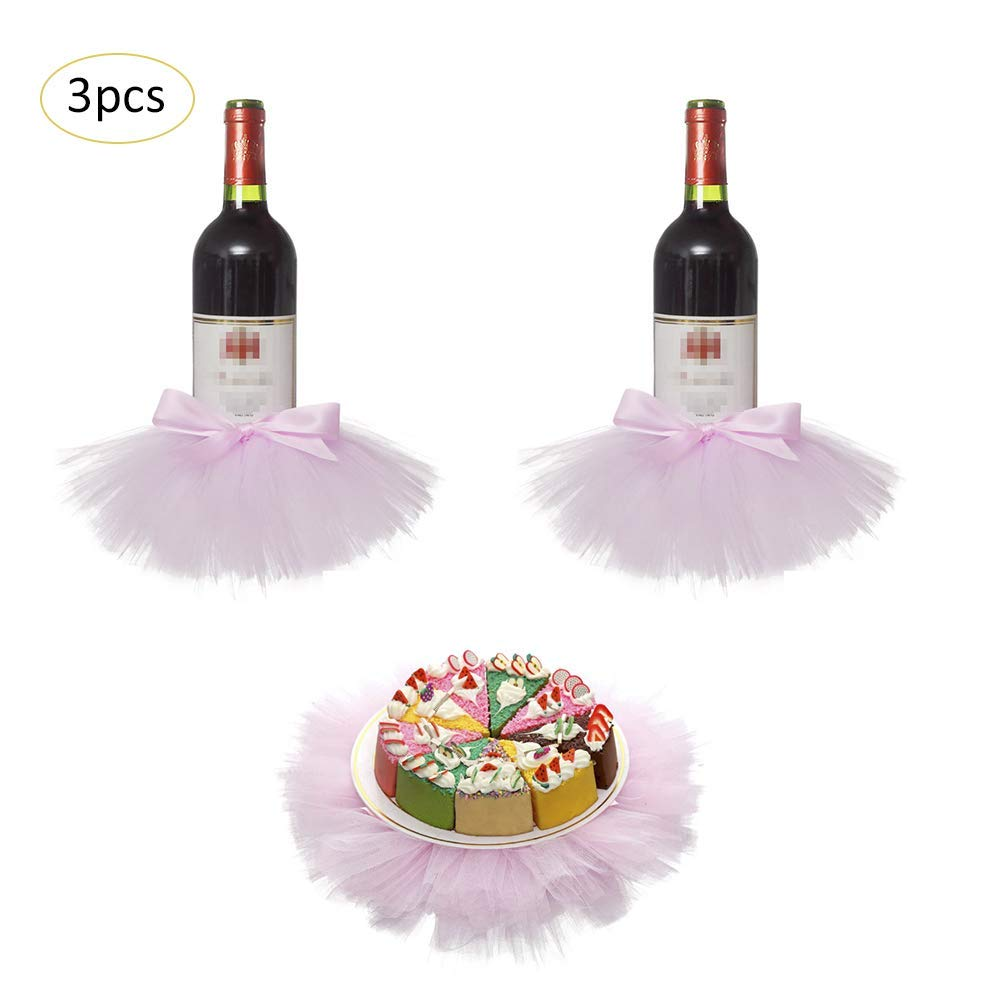 get quotations lianle 3pcs bottle covers tutu skirts dessert table decoration wedding meetings birthdays baby