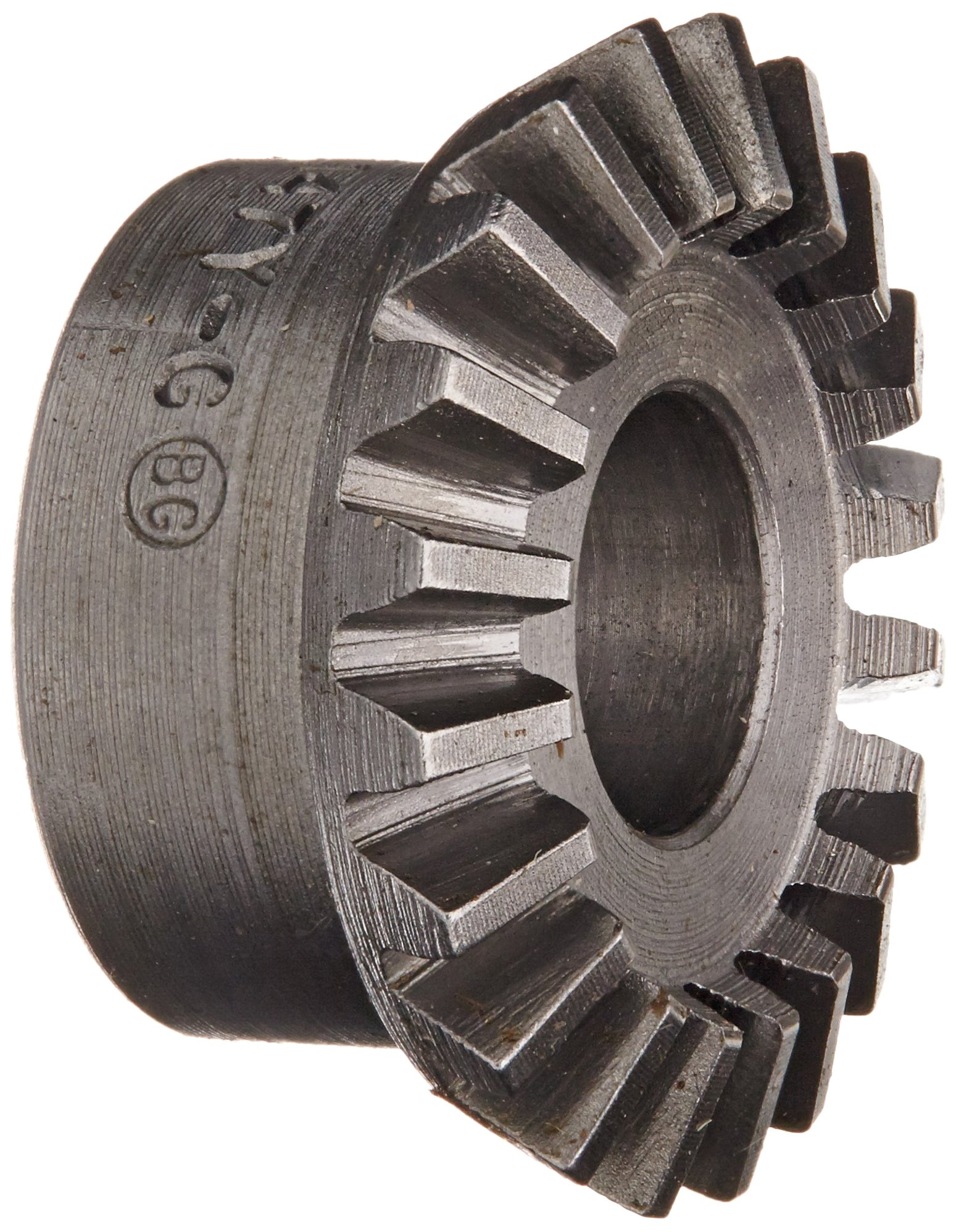 "Boston Gear L147Y-G Bevel Gear, 2:1 Ratio, 0.375"" Bore, 20 Pitch, 20 Teeth, 20 Degree Pressure Angle, Straight Bevel, Steel"