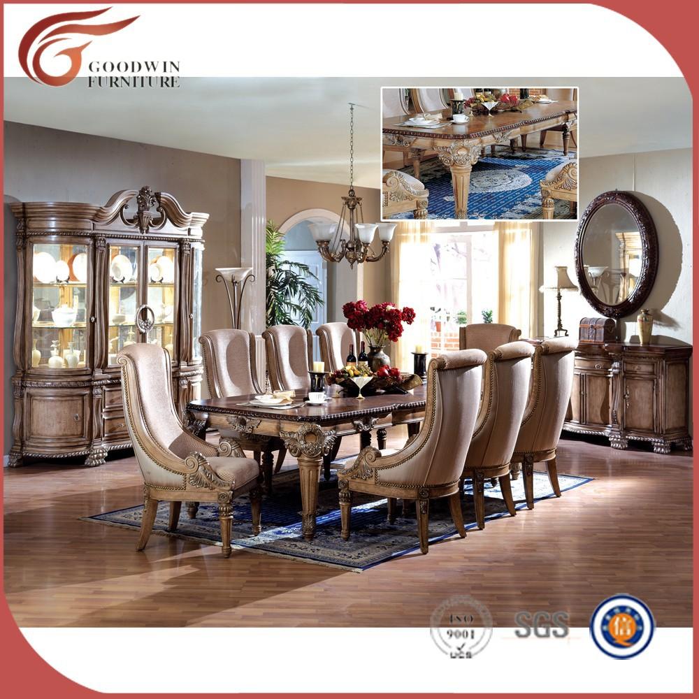 Blanc en bois style italien classique salle à manger meubles WA147 ...