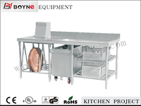 Stainless Steel Food Working Table with Storage / Kitchen Table