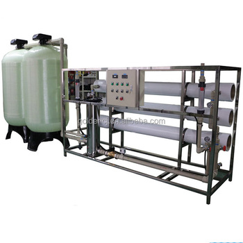 6000LPH reverse osmosis water treatment plant with UV lamp for drinking water