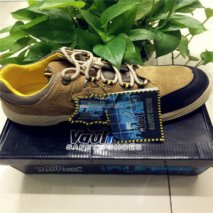 Vaultex SH668 Middle height with steel toe and steel plate PU outsole  velour leather safety shoes