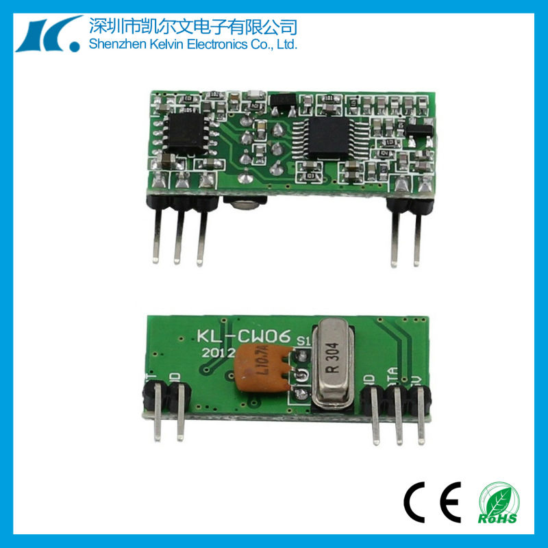 Wireless super-heterodyne small receiver board key hanging board KL-CW06