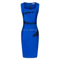 2017 New Fashion OL Women Ladies Office Dress Clothes Knee-length Bodycon Slim Pencil Party Dress