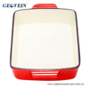 wholesale cast iron rectangle dish/roaster pan for baking good quality cookware