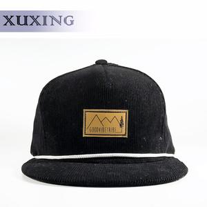 3000d08380e9d Custom Embroidery 5 Panels Flat Birm Corduroy Snapback Hat wholesale