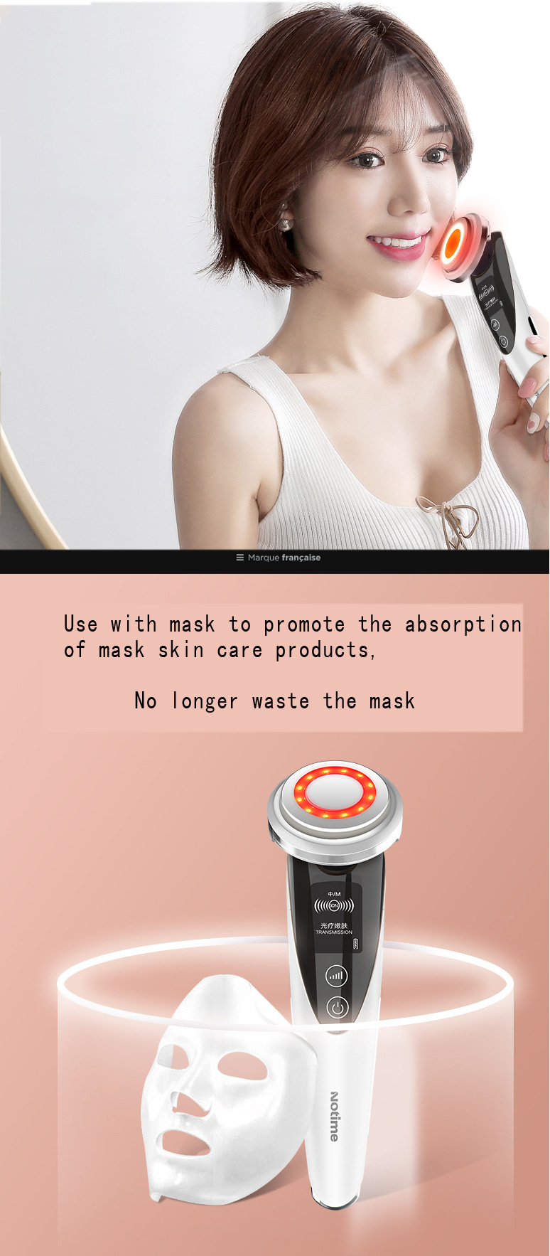 Manufacturer patent OEM support export beauty equipment home facial eye massage cleansing essence importer