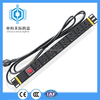 High quality made in China rack mounted pdu power distribution unit with double-contact switch