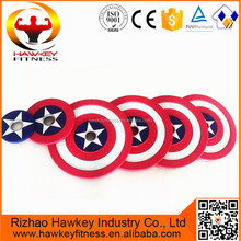 Factory Wholesale Fitness Gym Crossfit Weightlifting Used Captain America Barbell Bumper Plate