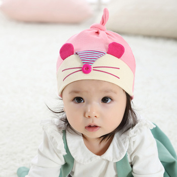 W1842 Baby Hats Luvable Friends Pink Blue Mouse Pattern Baby Hats   Caps  for Newborn 1411b641c111