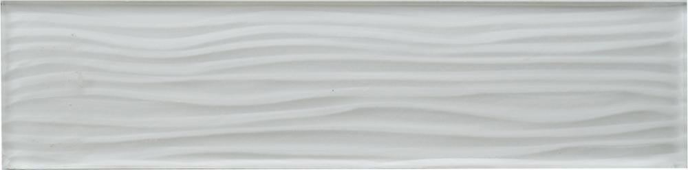 3 By 12 Size Wavy White Subway Gl Mosaic Tile Tiles Kitchen Backsplash Wall