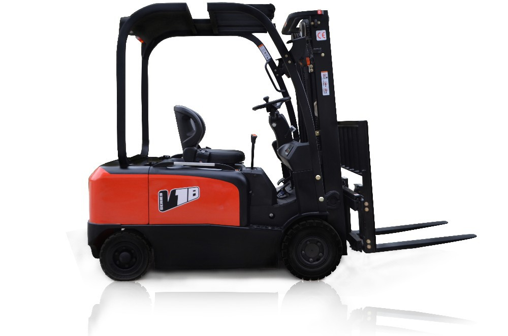 China new use HYTGER 1.8 ton 4-wheel electric forklift truck for sale with low price