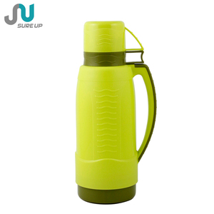 two cups thermos glass refill plastic vacuum flask 1l